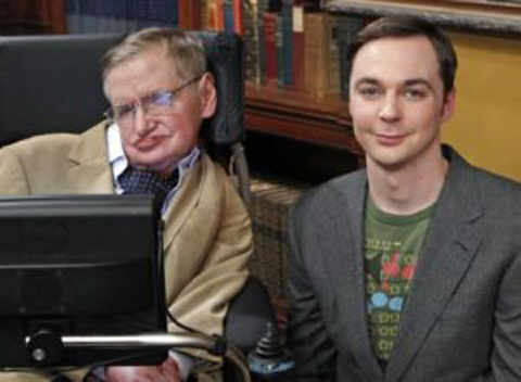 Robert Hawking with his father Stephen Hawking