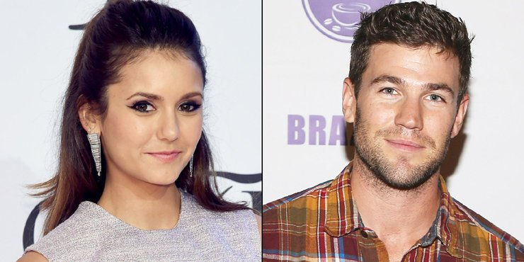 Austin Stowell and girlfriend Nina Dobrev, who he's been only dating for a month, spotted showing some serious PDA