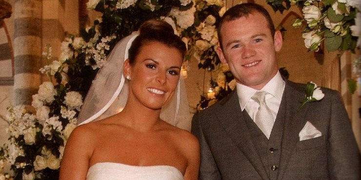 Fashionista Coleen Rooney bridesmaid at Towie star Georgina Dorsett's wedding, looked stunning in a white bridesmaid dress
