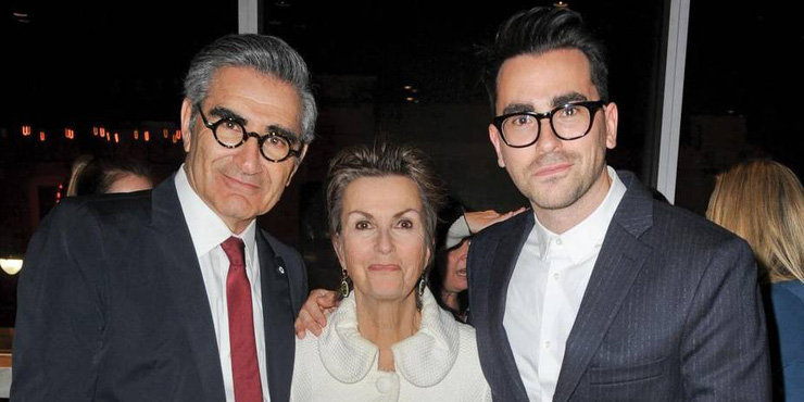Actor Eugene Levy has a hot son, Dan with wife Deborah Divine and they are on a TV show TOGETHER!!