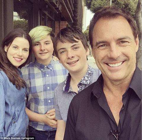 Mark Steines and Julie Freyermuth with his children
