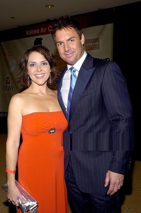 Leanza Cornett and Mark Steines