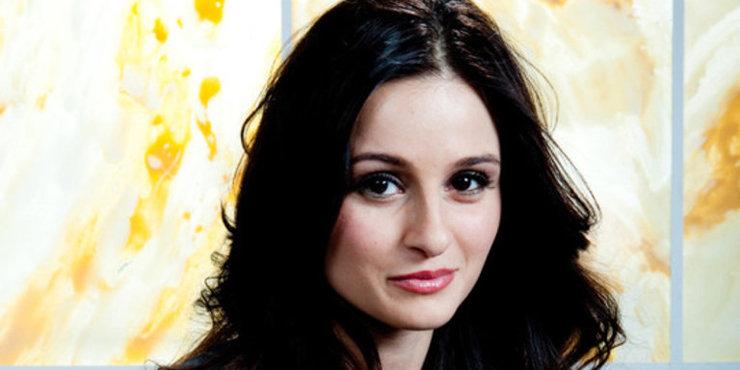 Canadian actress Melanie Papalia, notorious for dating costars, has a new boyfriend - music produce Edward Maya