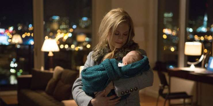 Actress Claire Coffee, who had baby Calvin in May with husband Chris Thile, loves being a mom!!