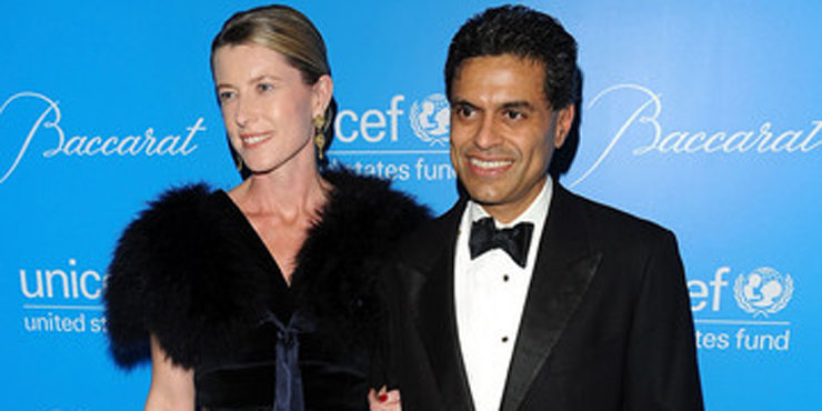52 Years Old CNN Host Fareed Zakaria Divorce Issues with wife Paula Throckmorton; What about Children?