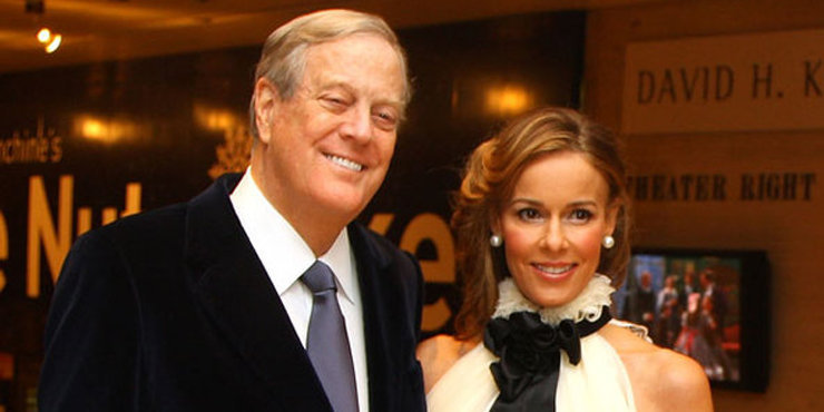 David Koch still loves his wife, Julia, even after 20 years of married life.