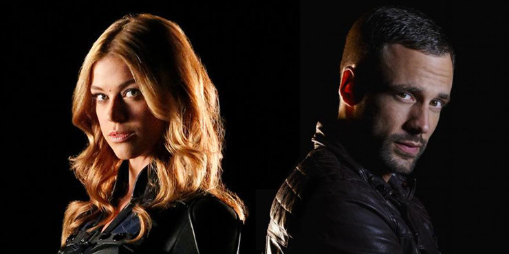 Is Nick Blood dating his co-star Adrianne Palicki? The two appear in two TV shows together.