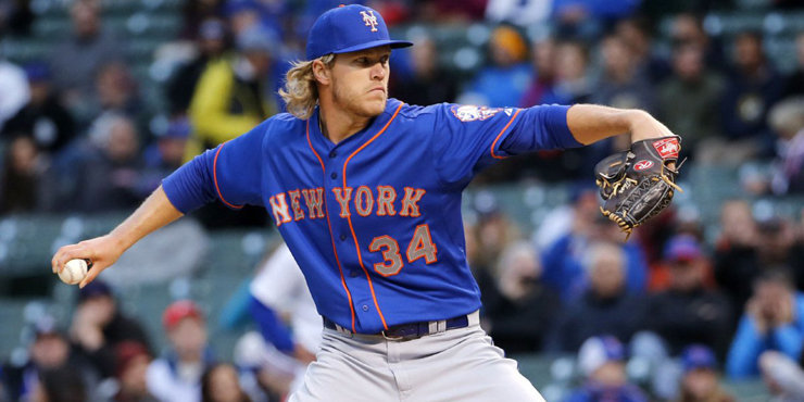 """Noah Syndergaard not happy with his delivery. Says he """"didn't feel very comfortable."""""""