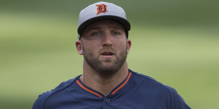 Tyler Collins apologizes after making an obscene gesture, says he's embarrassed about it.