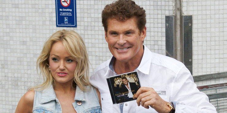 Hayley Roberts is engaged to David Hasselhoff.