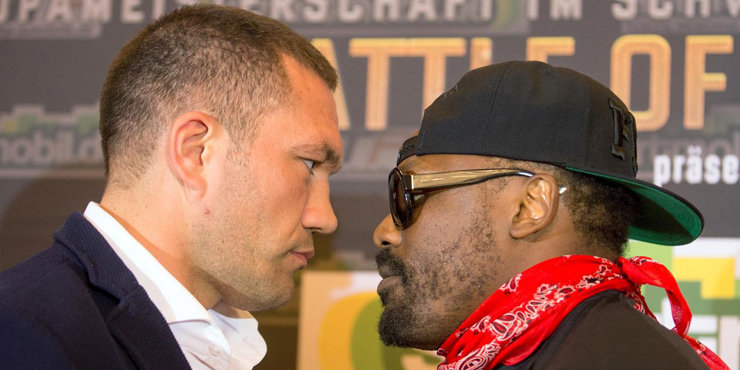 Kubrat Pulev engages in a pre-fight brawl with Dereck Chisora.