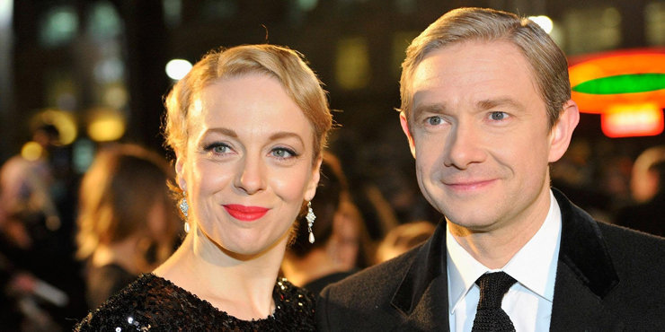 Martin Freeman and his wife to welcome a new member to their family.