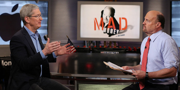 Twitter isn't happy about Tim Cook's interview with Jim Cramer.