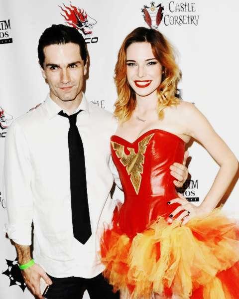 Sam Witwer and Chloe Dykstra
