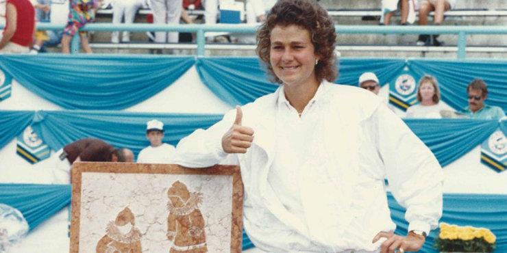 Former tennis star Pam Shriver, bonds with her children through tennis