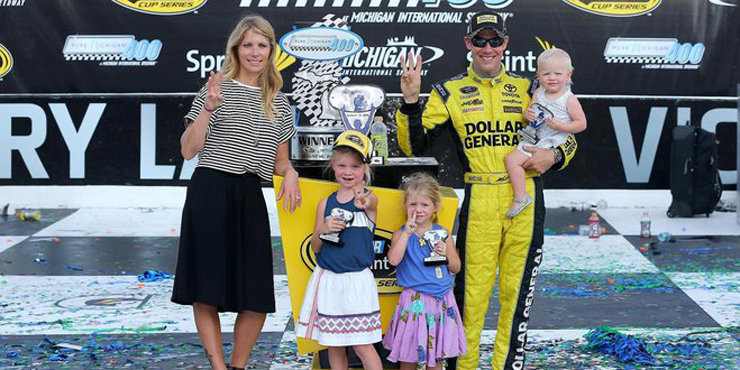 Race Car Driver Matt Kenseth, and wife Katie Martin, who already have 3 children, expecting a 4th?