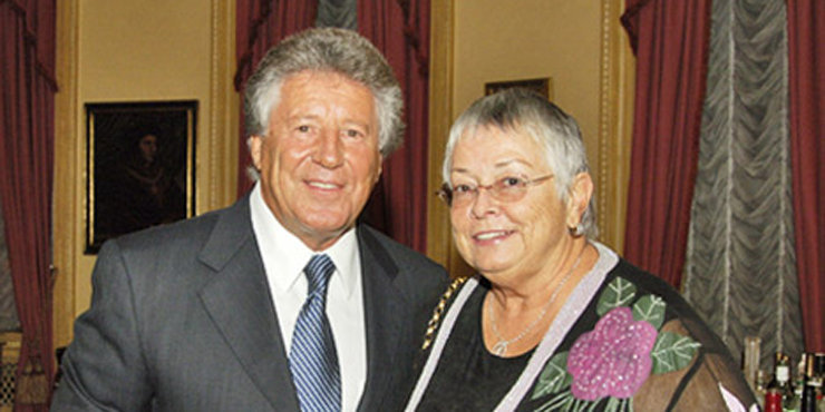 Racing legend Mario Andretti, and wife Dee Ann Andretti enjoying their old age together, planning on a world tour??