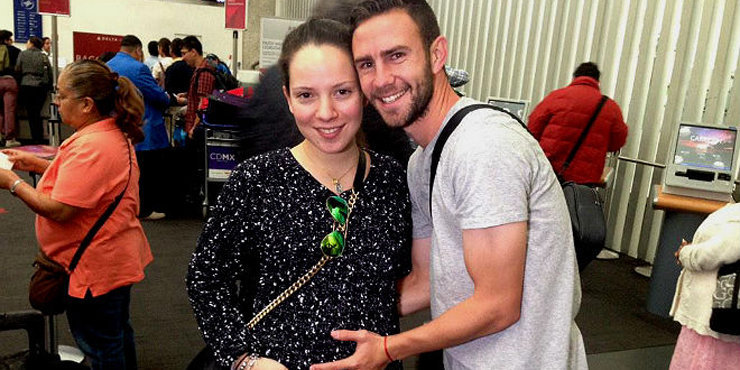 Miguel Layun and his wife, Ana, who he's been married to since 2012 expecting a child?