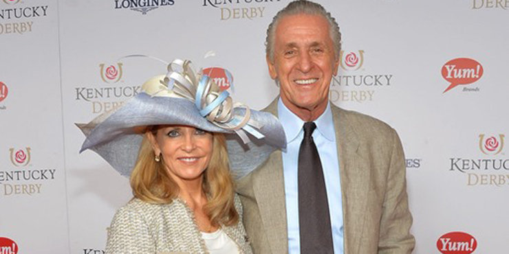 Pat Riley really loves his wife, Chris Rodstrom, whom he married in 1970. Says she helped him through a lot