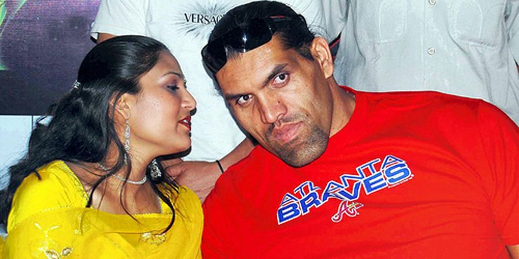 The Great Khali is head over heels in love with his wife, Harminder Kaur, who he has been married to since 2002.