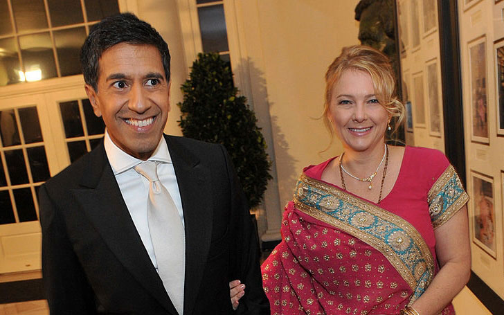 Sanjay Gupta married Rebecca Olson in 2004, the couple lives in Atlanta with three daughters