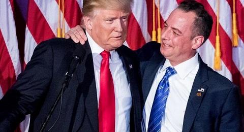 Reince Priebus with Donald Trump