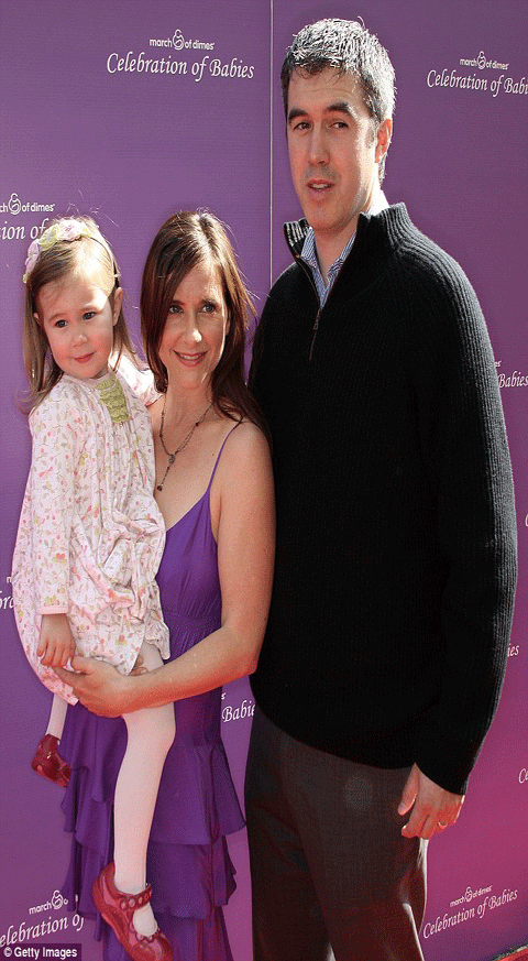 Kellie Martin and her husband Keith Christian and their daughter Margaret Heather Christian