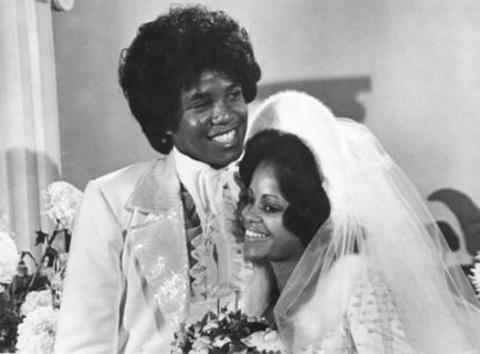 Jermaine Jackson with ex-wife Hazel Gordy