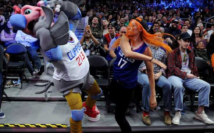 NO Means NO; Becky Lynch Slaps The Clippers Mascot During WWE Night