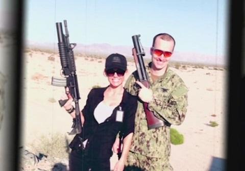 Kelly Carlson with her husband, Dan.