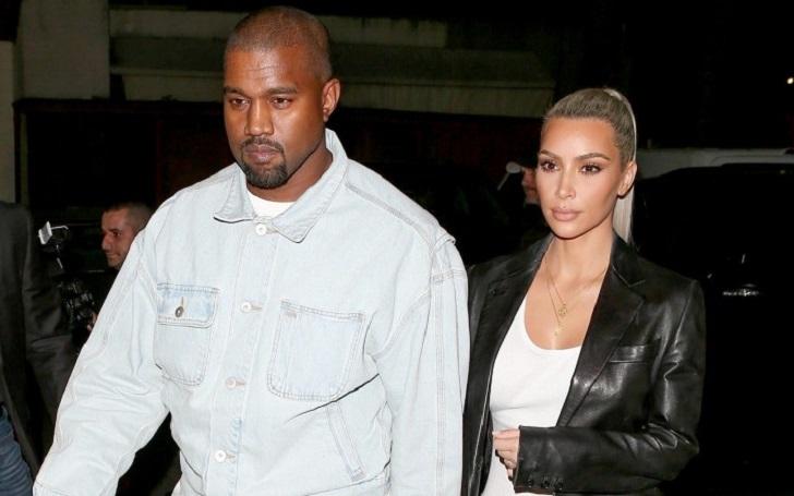 Kanye West Looks Happy after celebrating wife Kim Kardashian's birthday over dinner