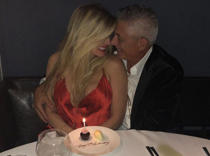 Nadine and John enjoy a romantic night out on their anniversary