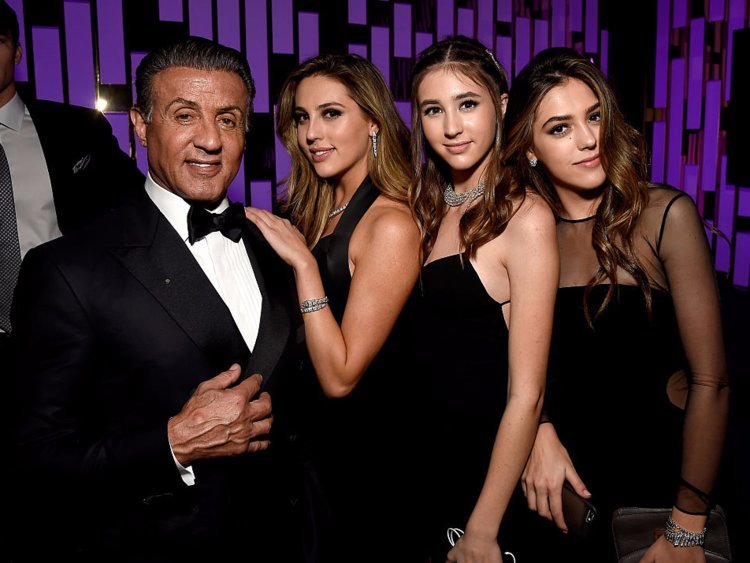 Sylvester and his three daughters frequently accompany him to award shows and ceremonies