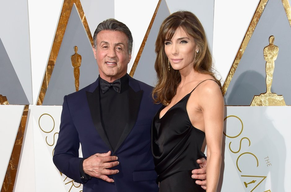 Sylvester and his third wife Jennifer Flavin married in 1997