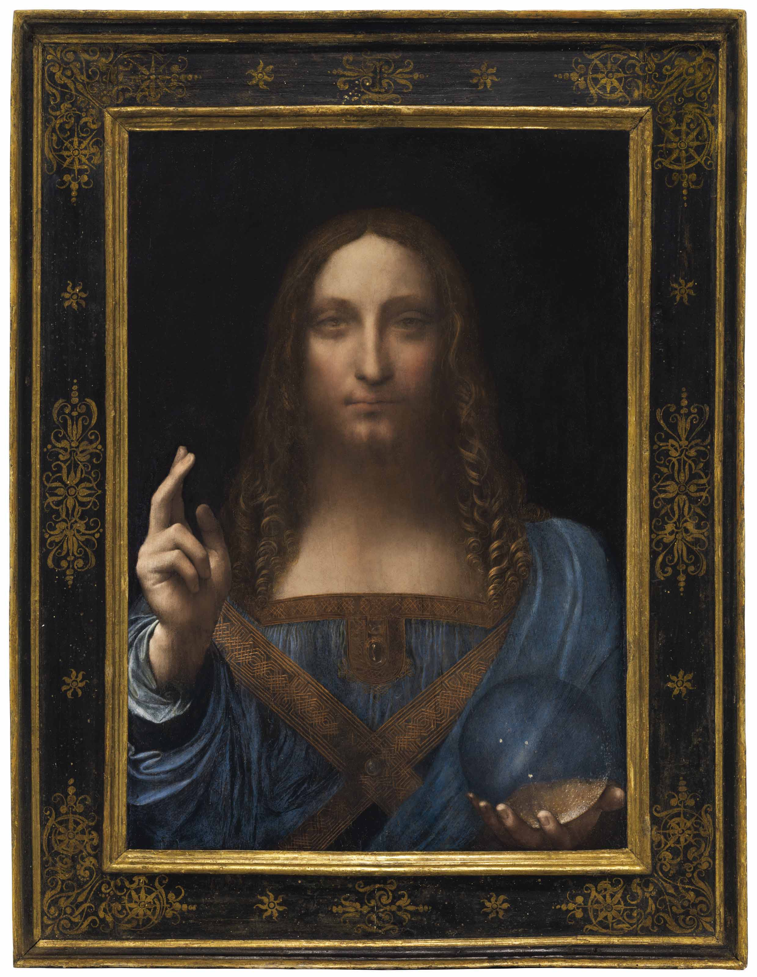 Leonardo DaVinci's painting Salvator Mundi