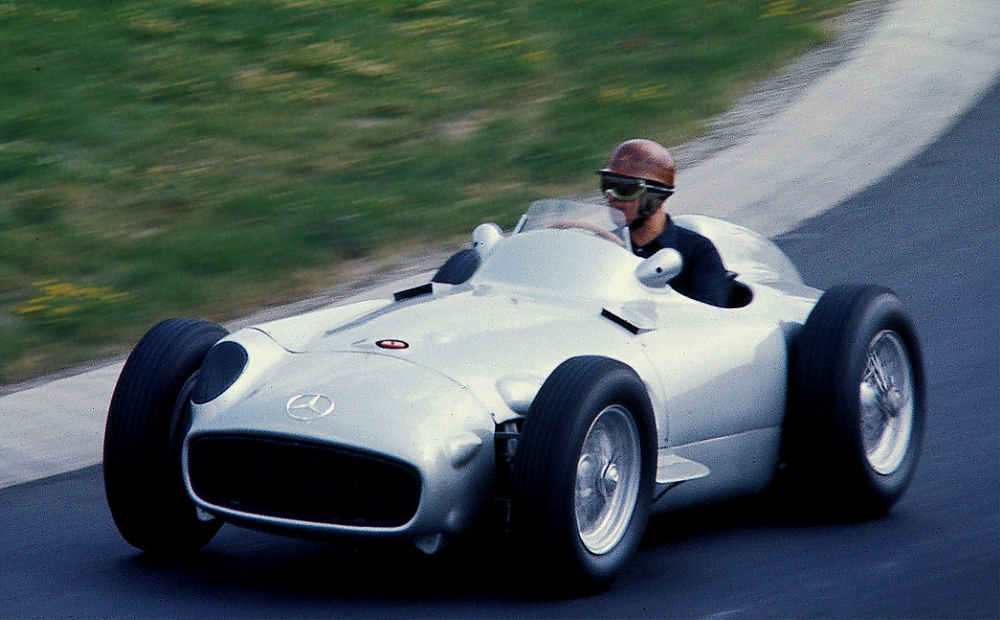 German Race Driver Karl Kling in 1954 Mercedes-Benz W196