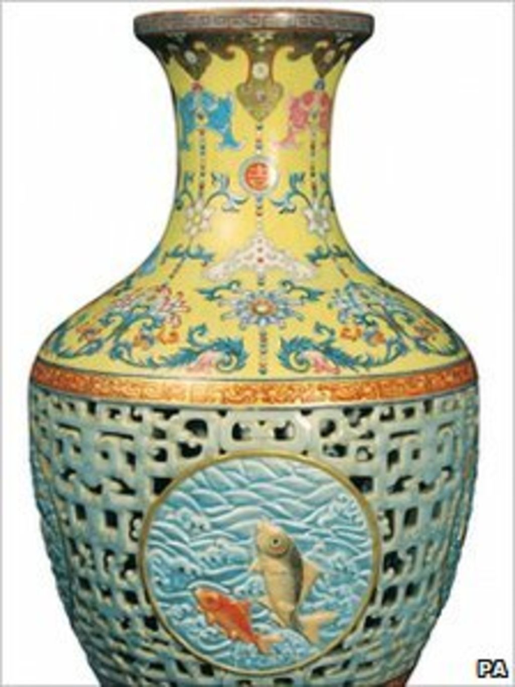 Chinese Pinner Qing Dynasty Vase