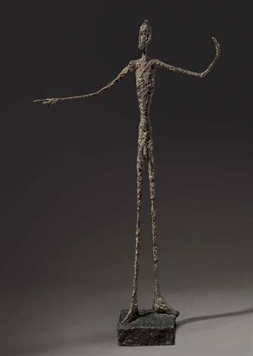 """L'homme au doigt """"Pointing Man"""" by Alberto Giacometti"""
