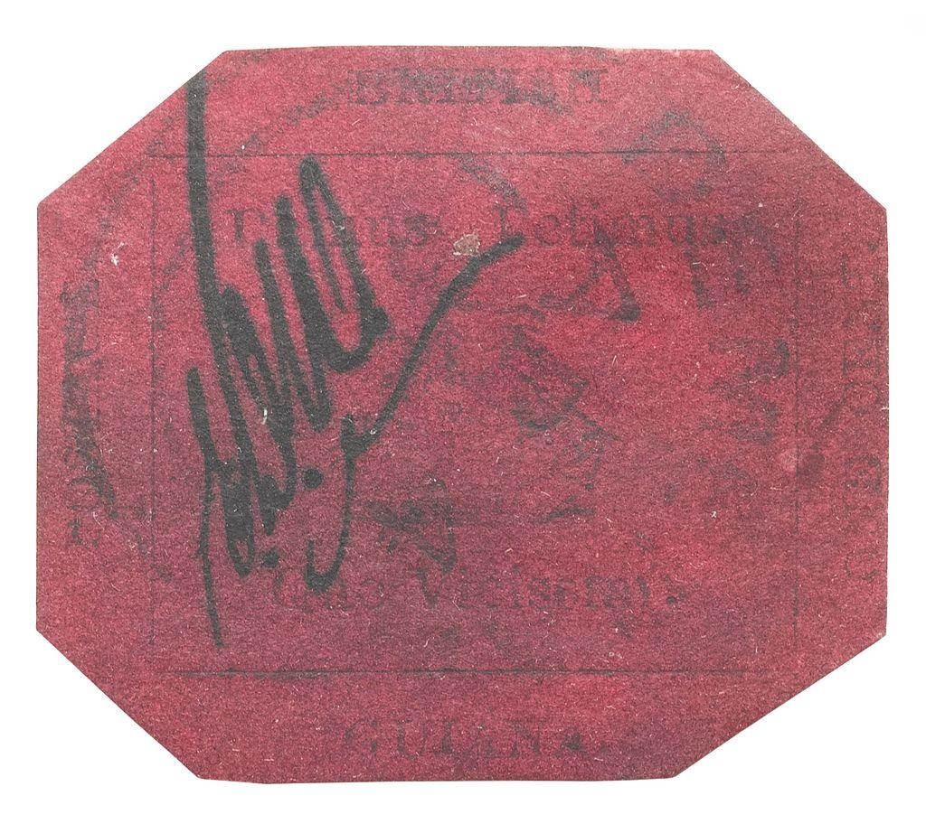 1856 British Guiana One Cent Magenta Stamp