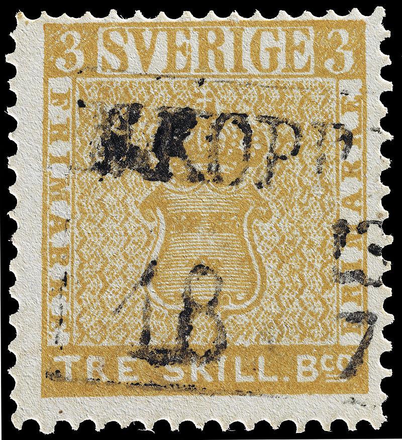The misprinted Treskilling Yellow stamp