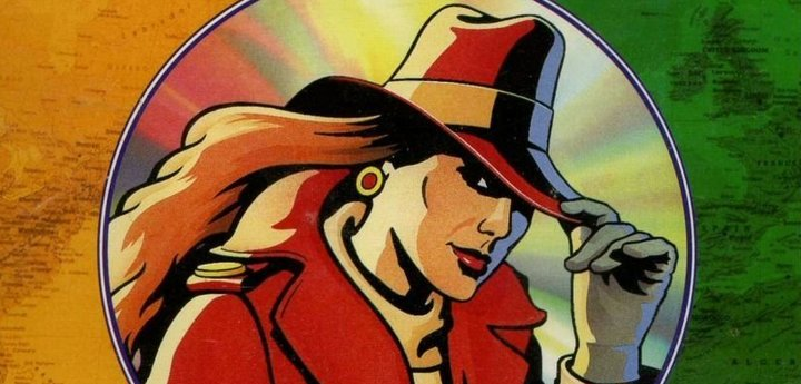 Carmen Sandiego with red hat and coat
