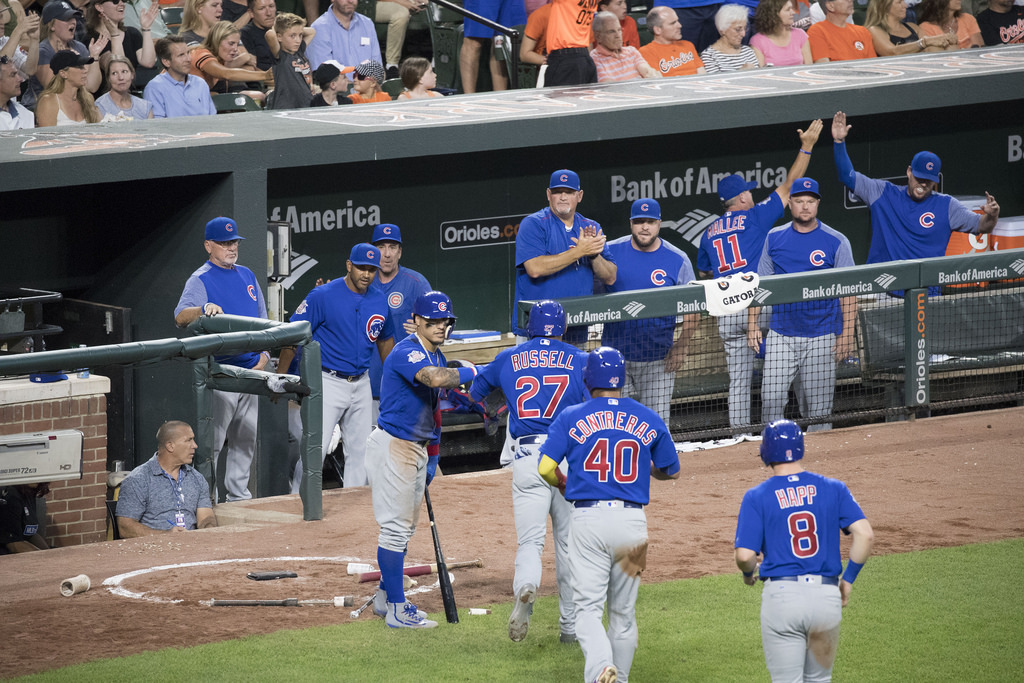 The Chicago Cubs Dugout