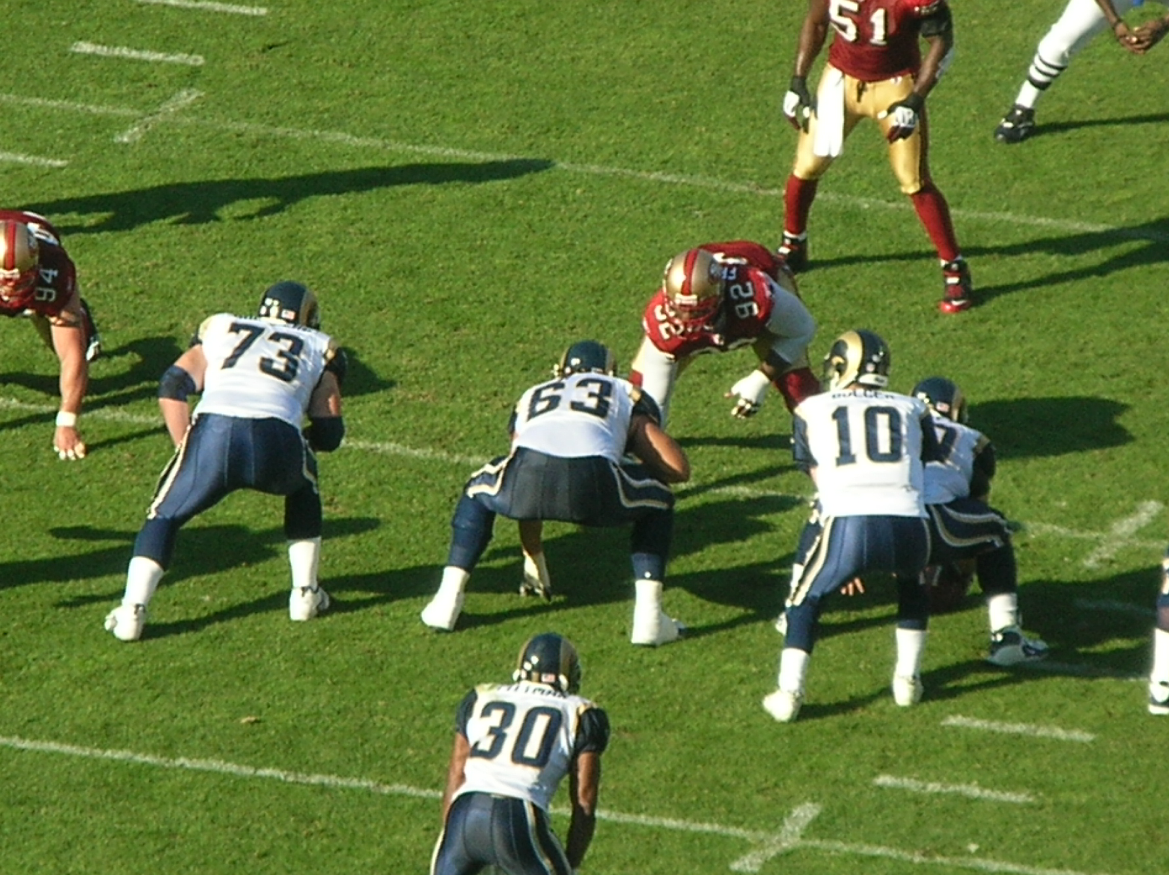 Los Angeles Rams during a game against San Francisco 49ers