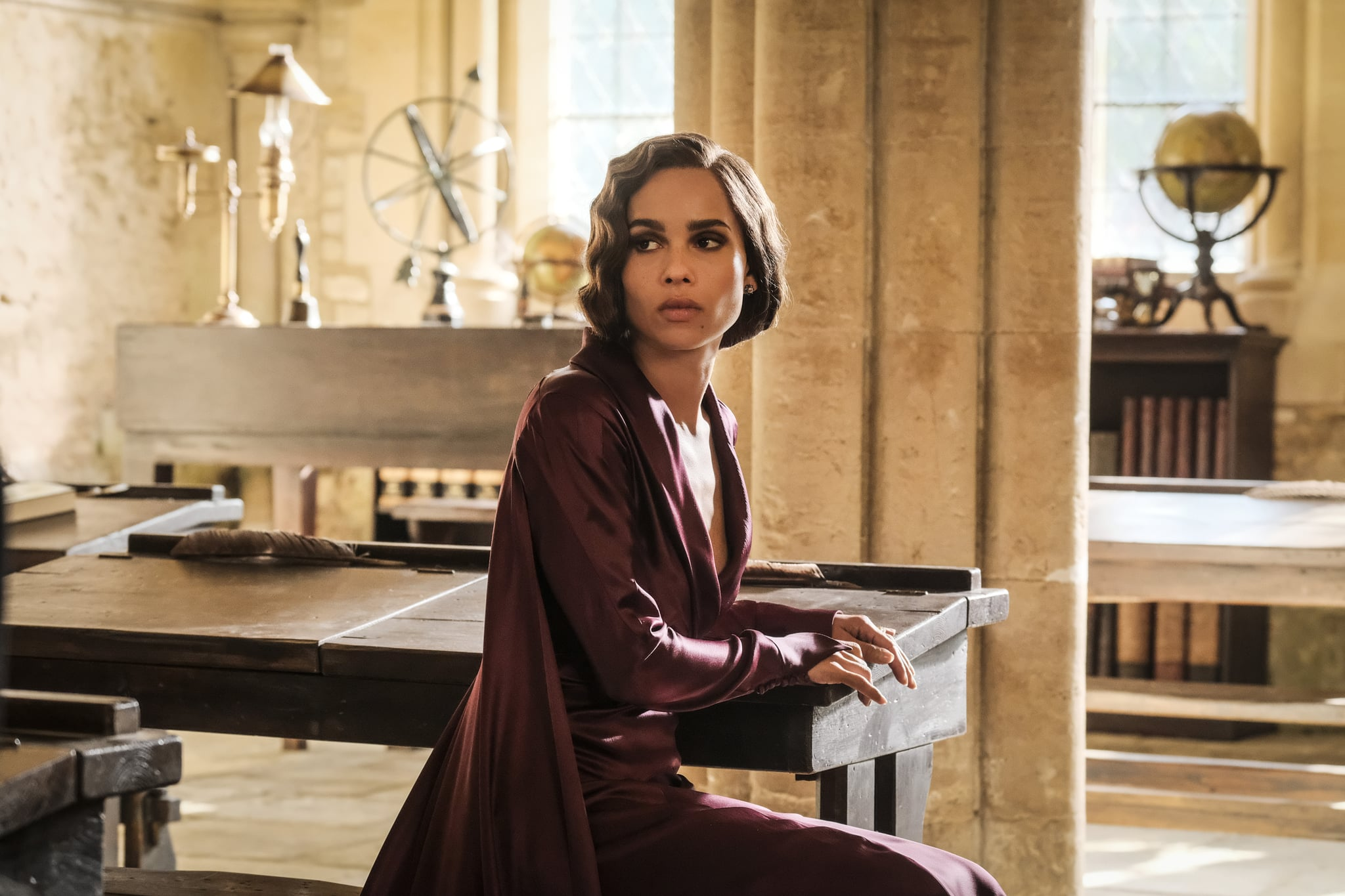 American actress Zoe Kravitz as Leta Lestrange is Fantastic Beasts: Crimes of Grindelwald