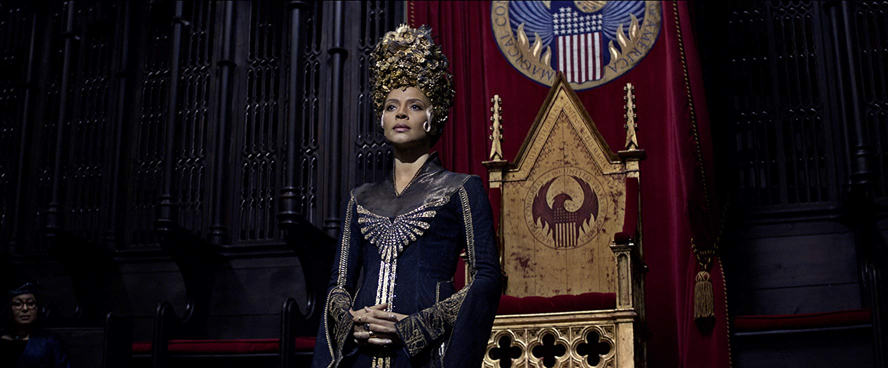 Carmen Ejogo as Seraphina Picquery in Fantastic Beasts franchise
