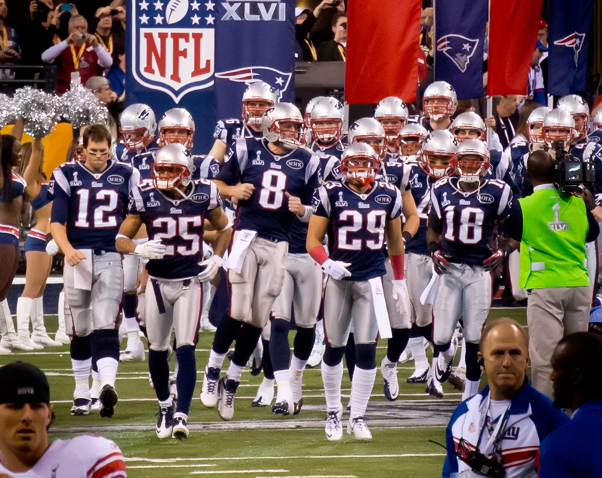 New England Patiots entrance during 45th NFL season