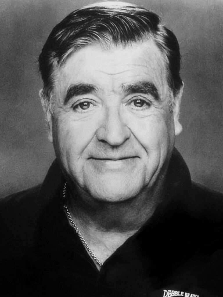 A formal black and white photo of Barney Martin