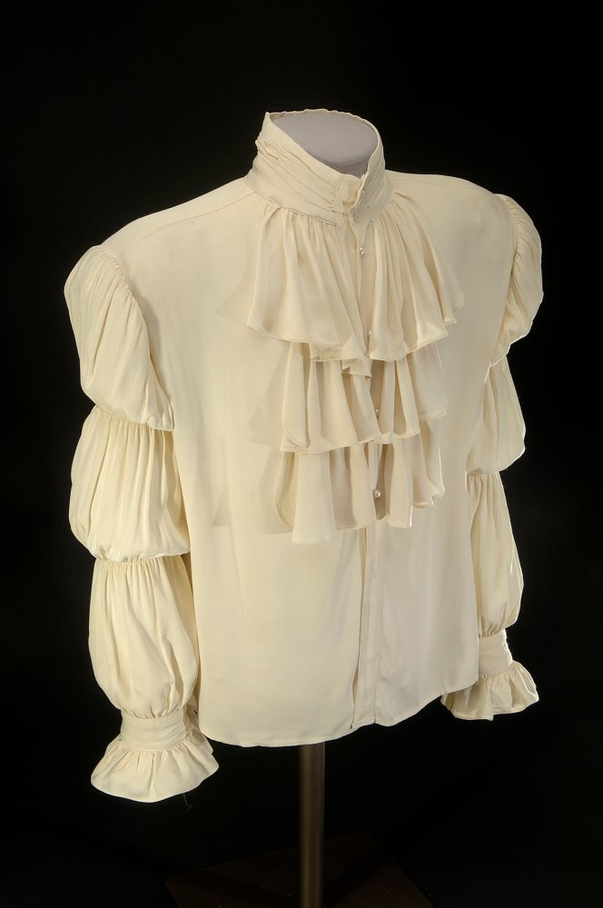 Seinfeld's famous white Puffy Shirt being displayed