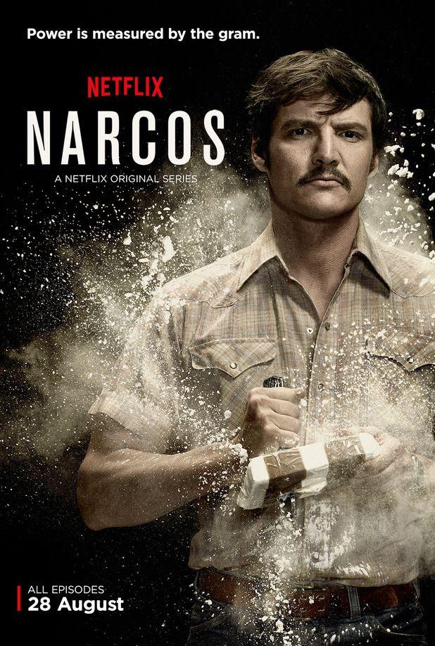 Poster of the Netflix TV series Narcos based on the drug dealer Escobar life