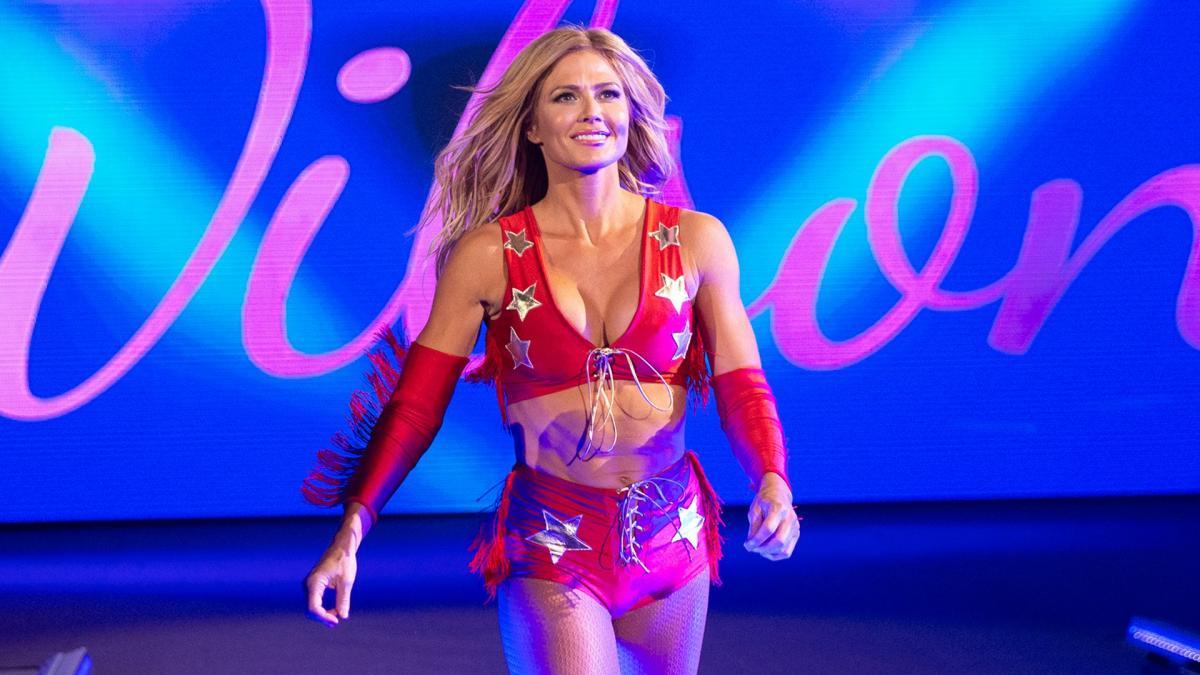 Torrie Wilson making her entry in WWE